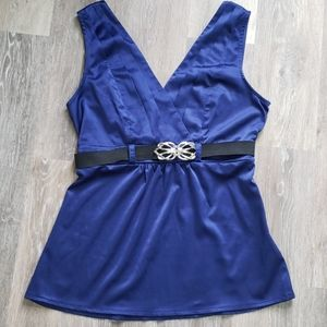 Dressy tank with belt